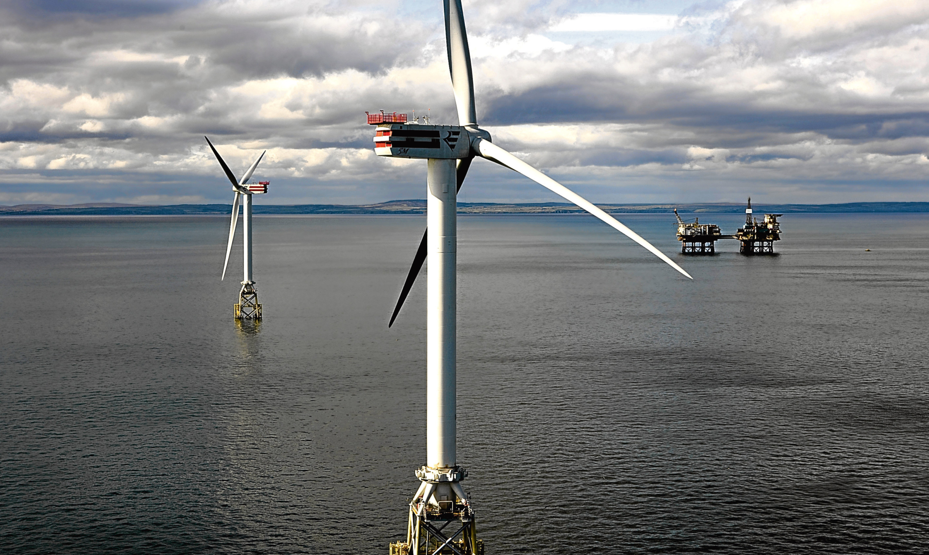Turbines installed as part of SSE's Beatrice demonstrator project.