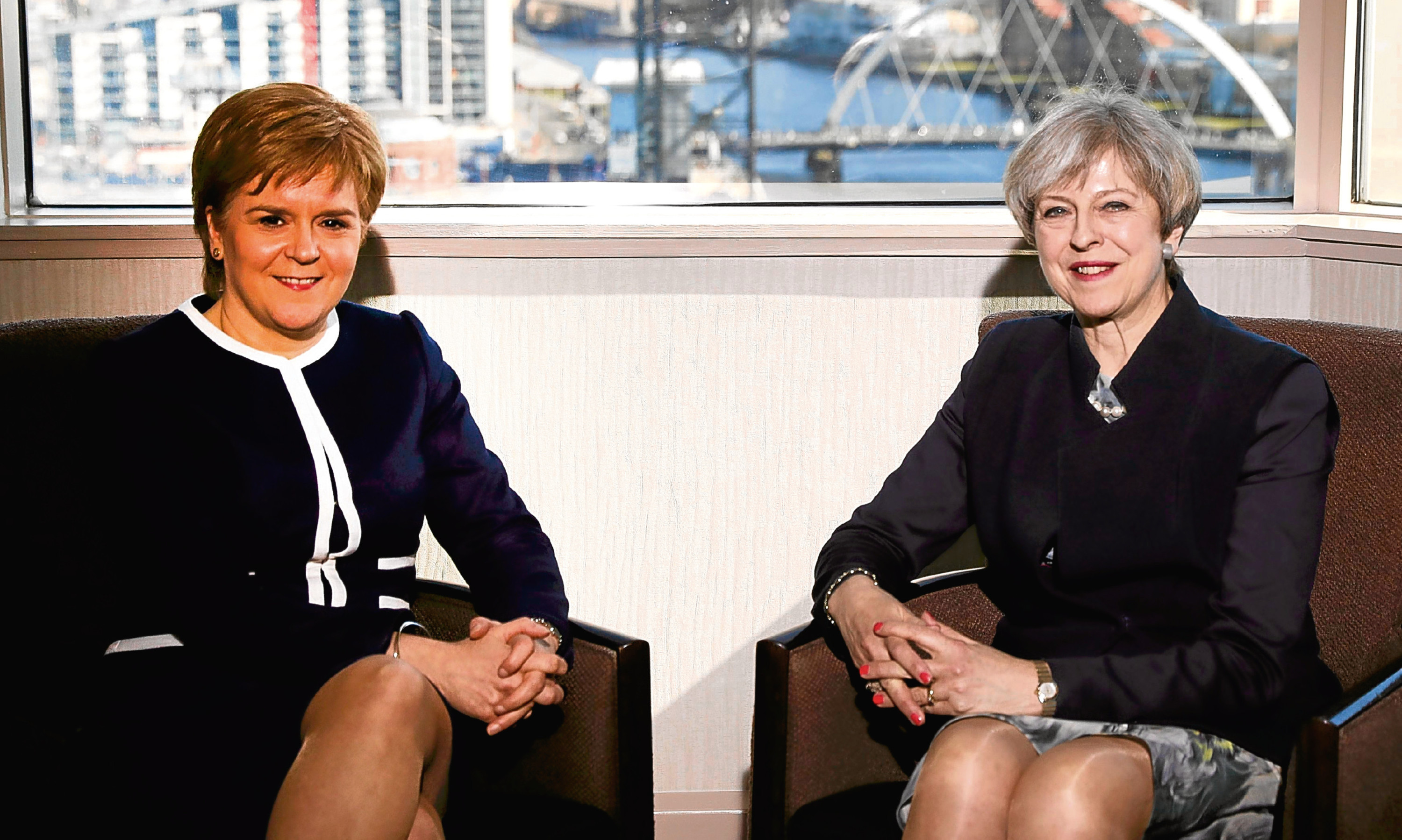 First Minister Nicola Sturgeon with Prime Minister Theresa May.