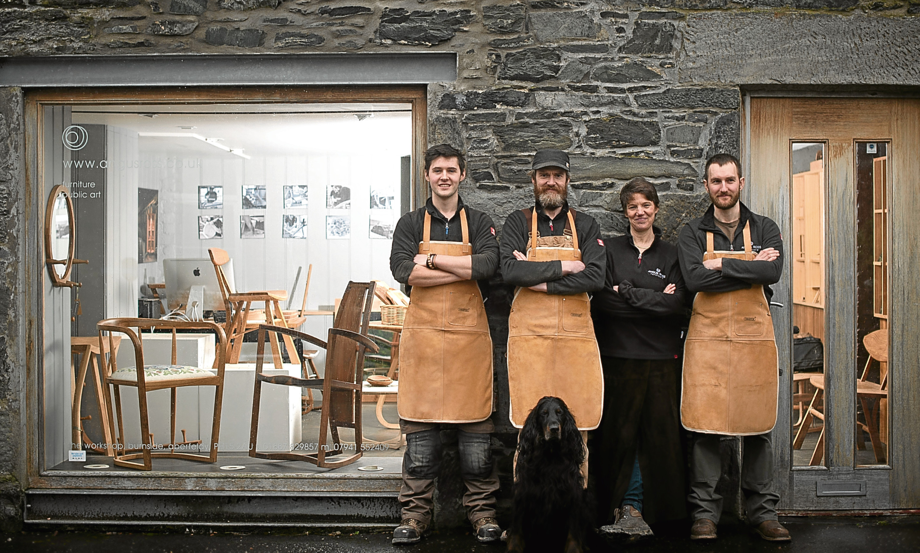 Angus Ross, second from left) and members of his team