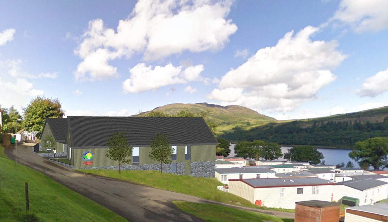 Plans for the holiday park expansion at Loch Earn.