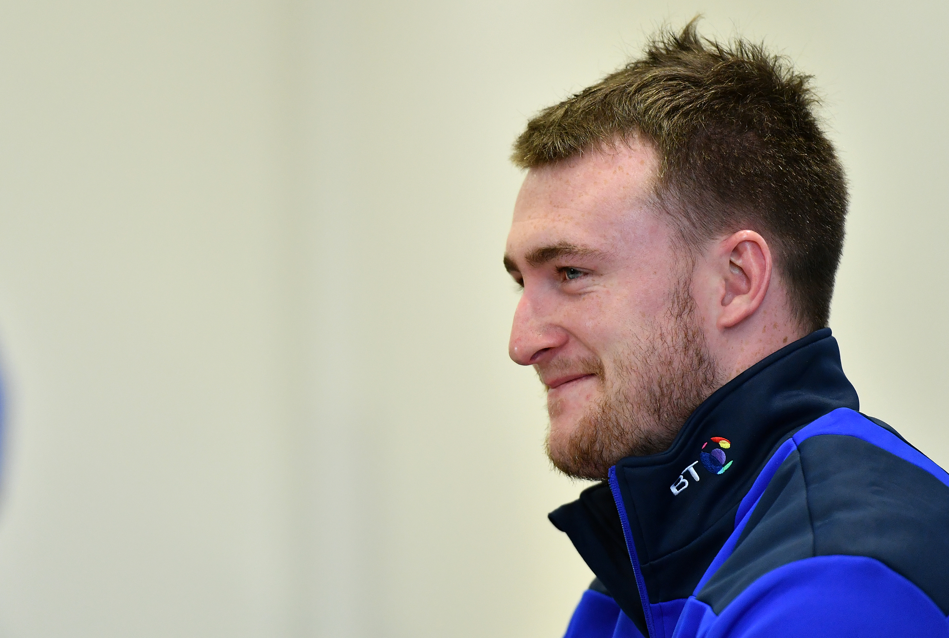 Stuart Hogg is in bouyant mood ahead of the Calcutta Cup match at Twickenham.