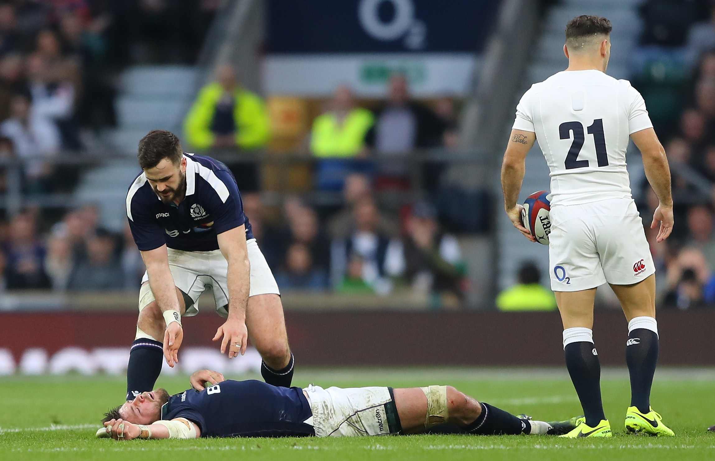 Ryan Wilson was one of the Scots injured in Saturday's Calcutta Cup loss to England.