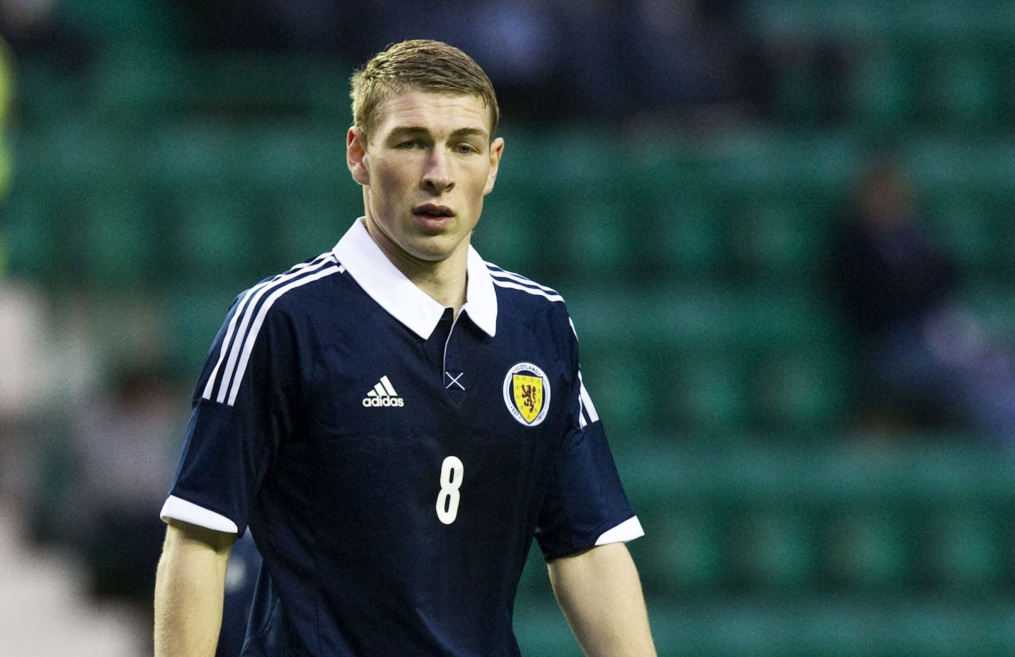 David Wotherspoon in action for Scotland's under-21s.
