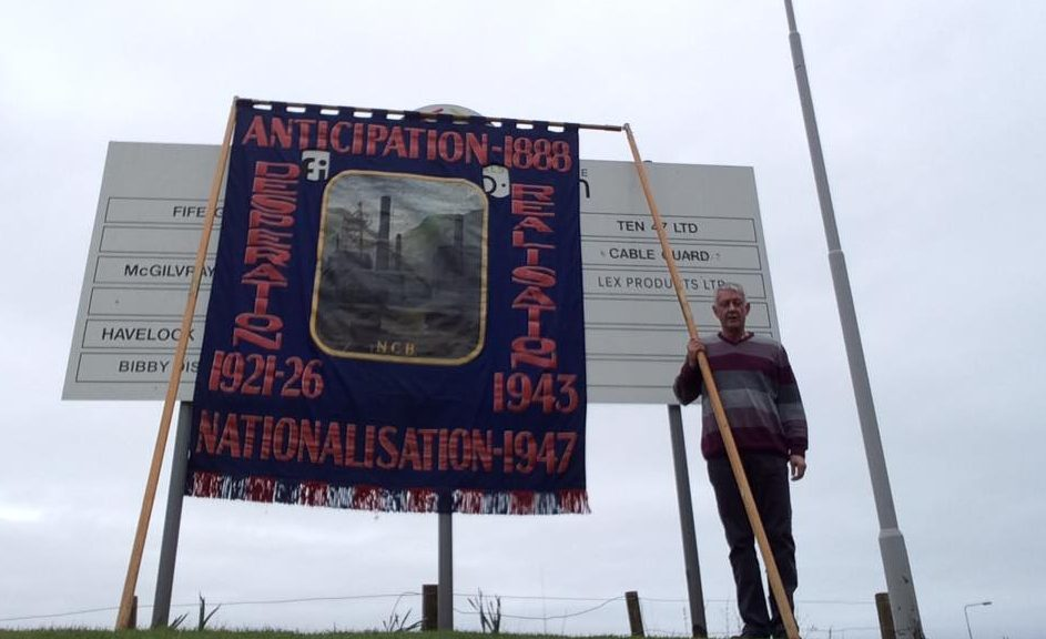 Tom Adams staged a protest at Frances Colliery
