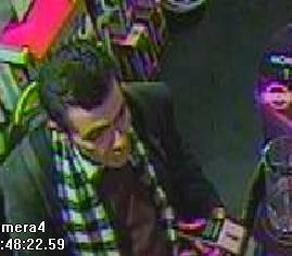Close-up CCTV footage of the man.