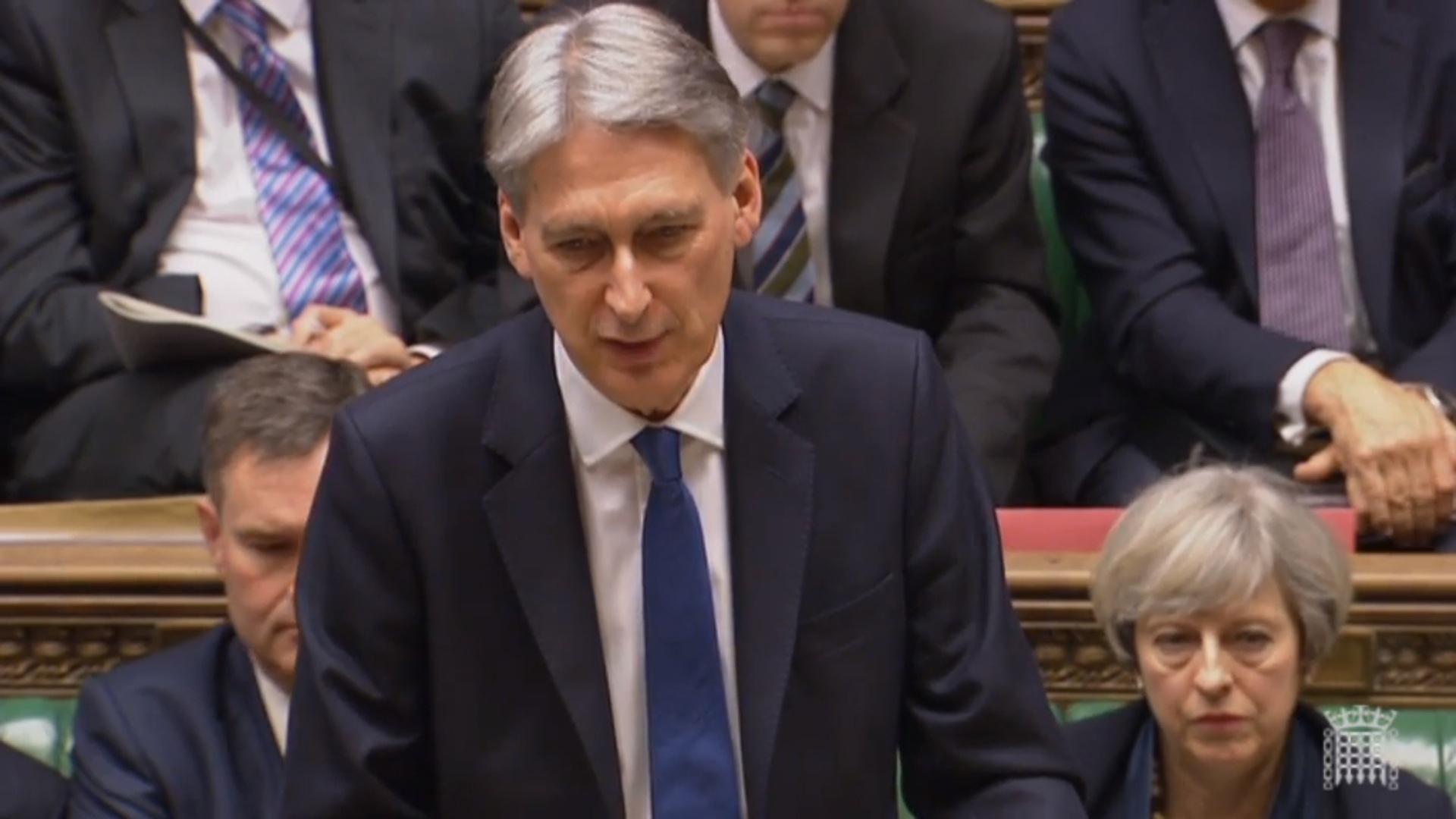 Philip Hammond making his Budget statement.