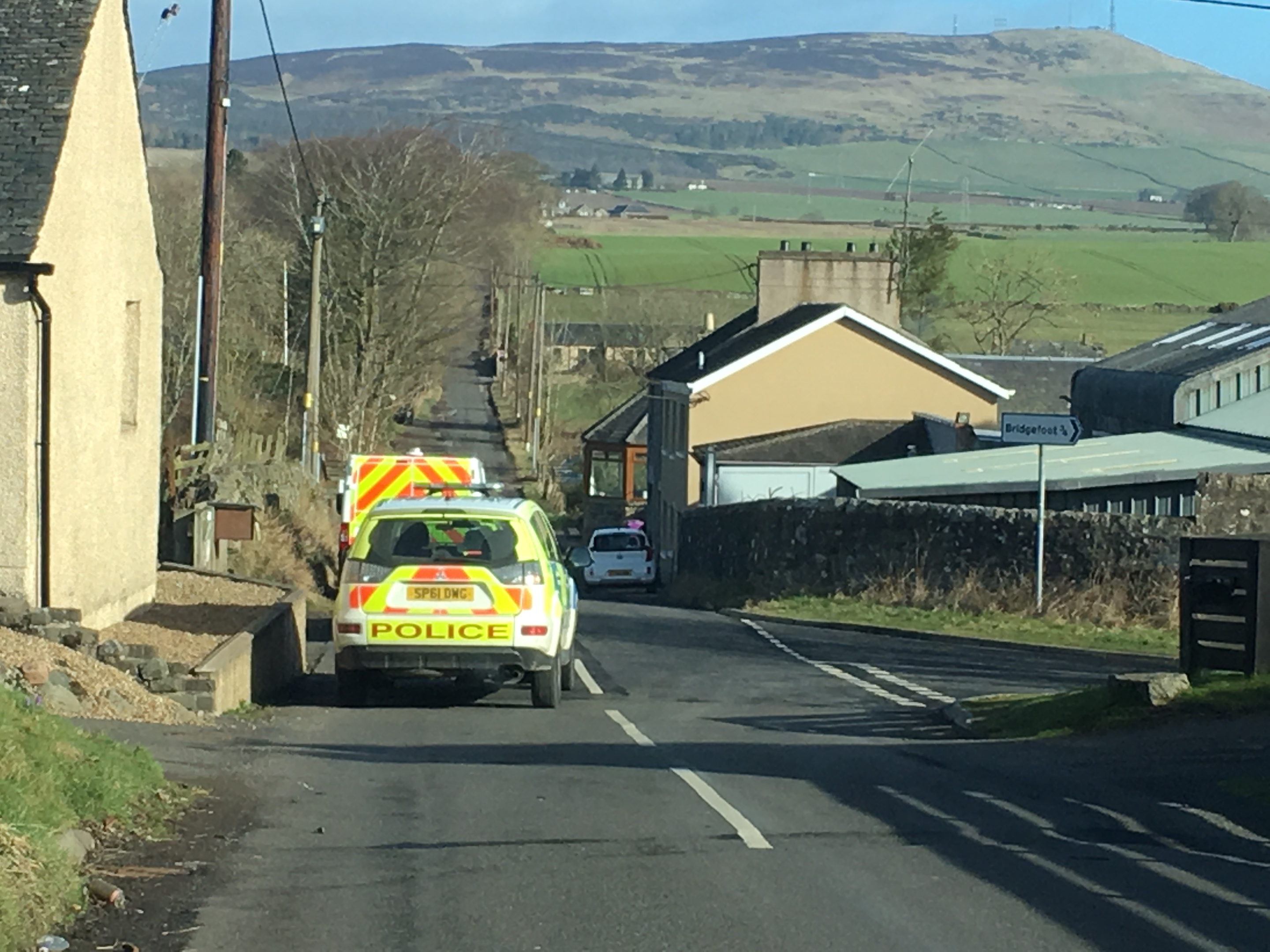 Police were present in Bridgefoot on Tuesday morning.