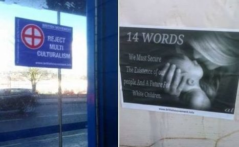 Fly posters have been spotted in Dunfermline and Kirkcaldy, prompting concern from authorities.