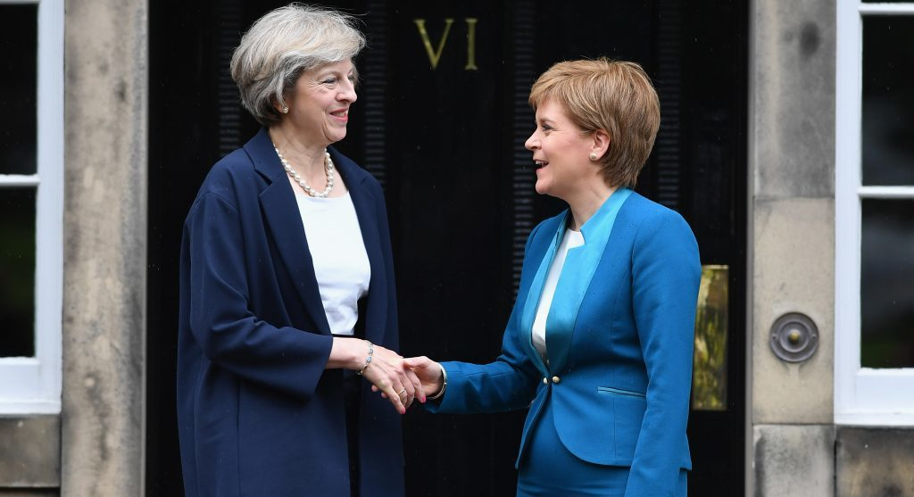 The smiles have been replaced by poker faces as Theresa May and Nicola Sturgeon gamble their futures on Scotland's attitude to independence.