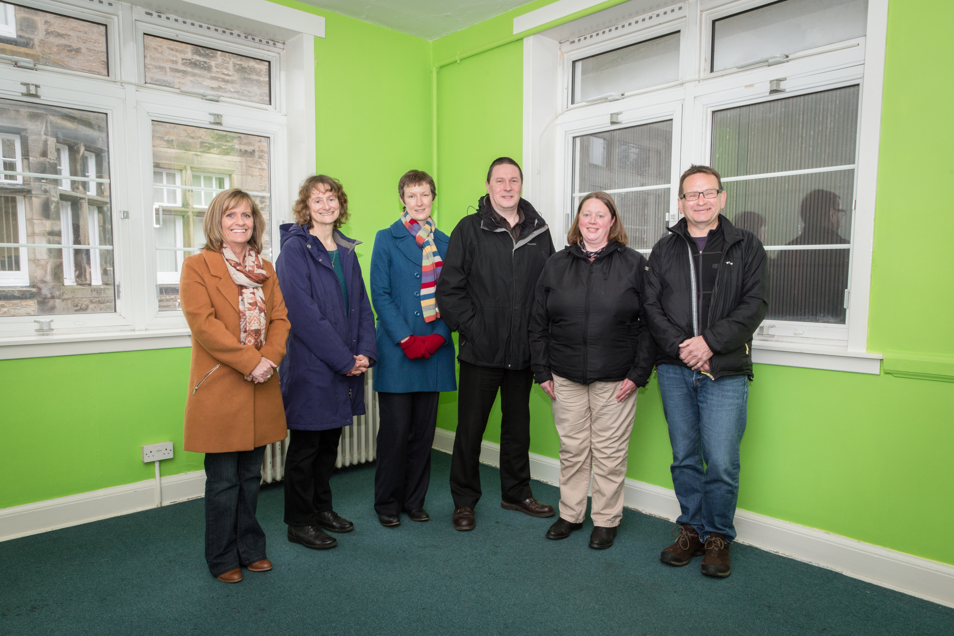 Left to right: Libby McWilliams from Fife Council with Greener Kirkcaldy's Pat Crosby, Suzy Goodsir, Andrew McDaniel, Aileen Horn and Geoff Robotham.