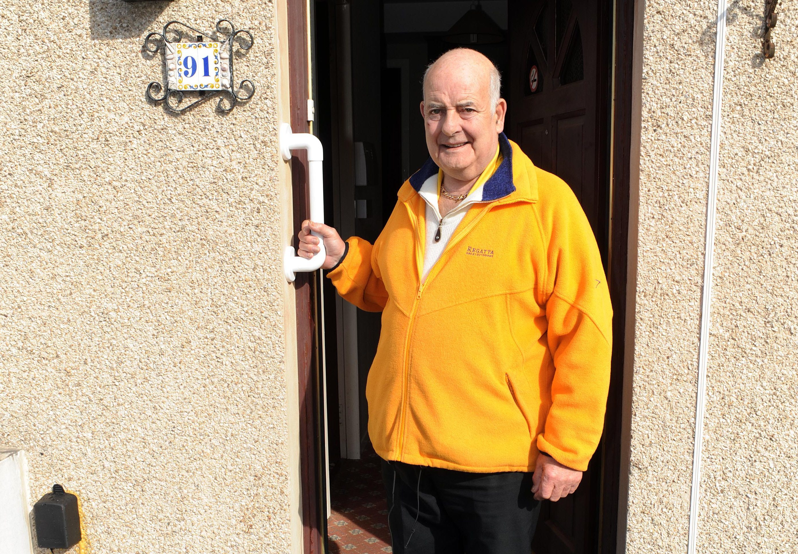 Dennis Nevey at his home in Kirkcaldy.