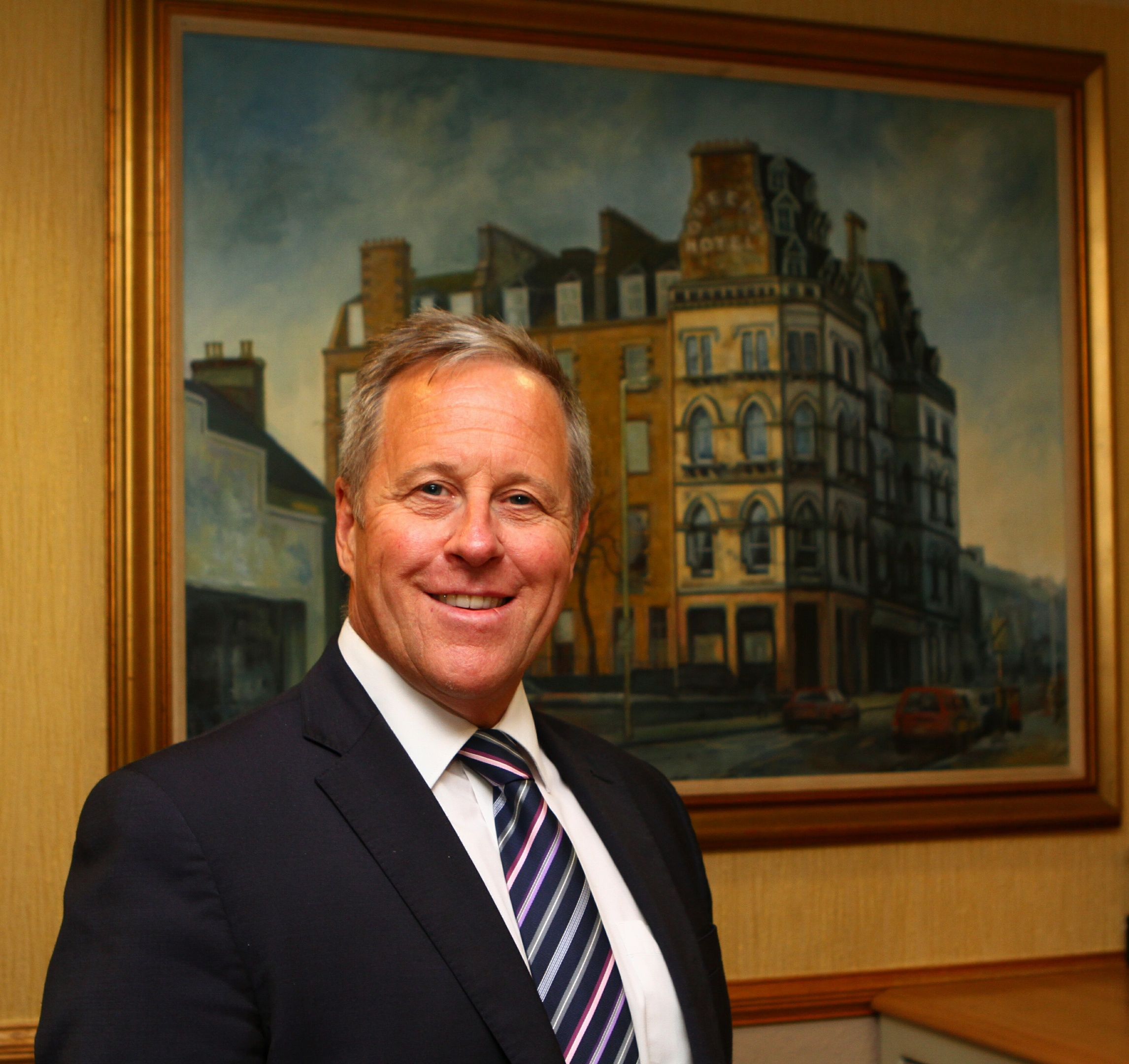 Hotel owner Gordon Sneddon at the Queen's Hotel in Dundee