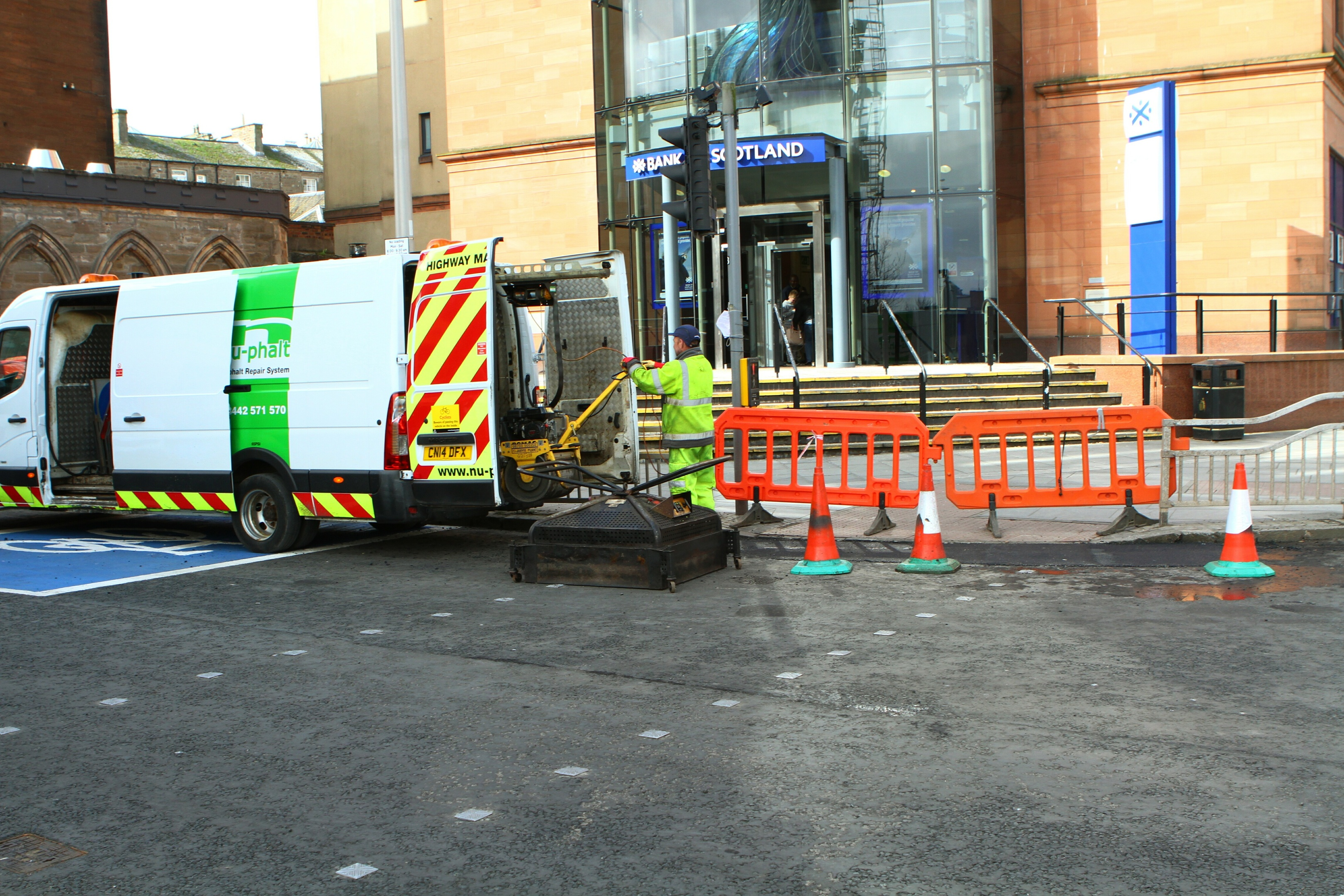 The roadworks at the Nethergate.