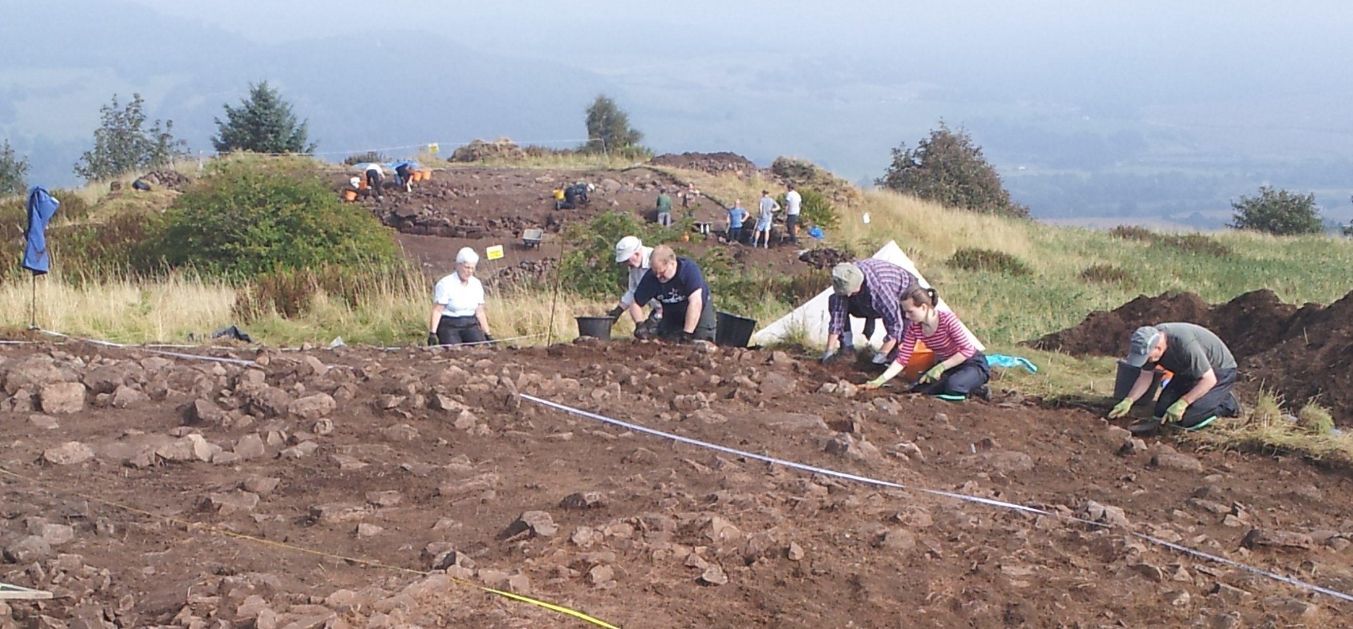 Dig at Moredun top hillfort.