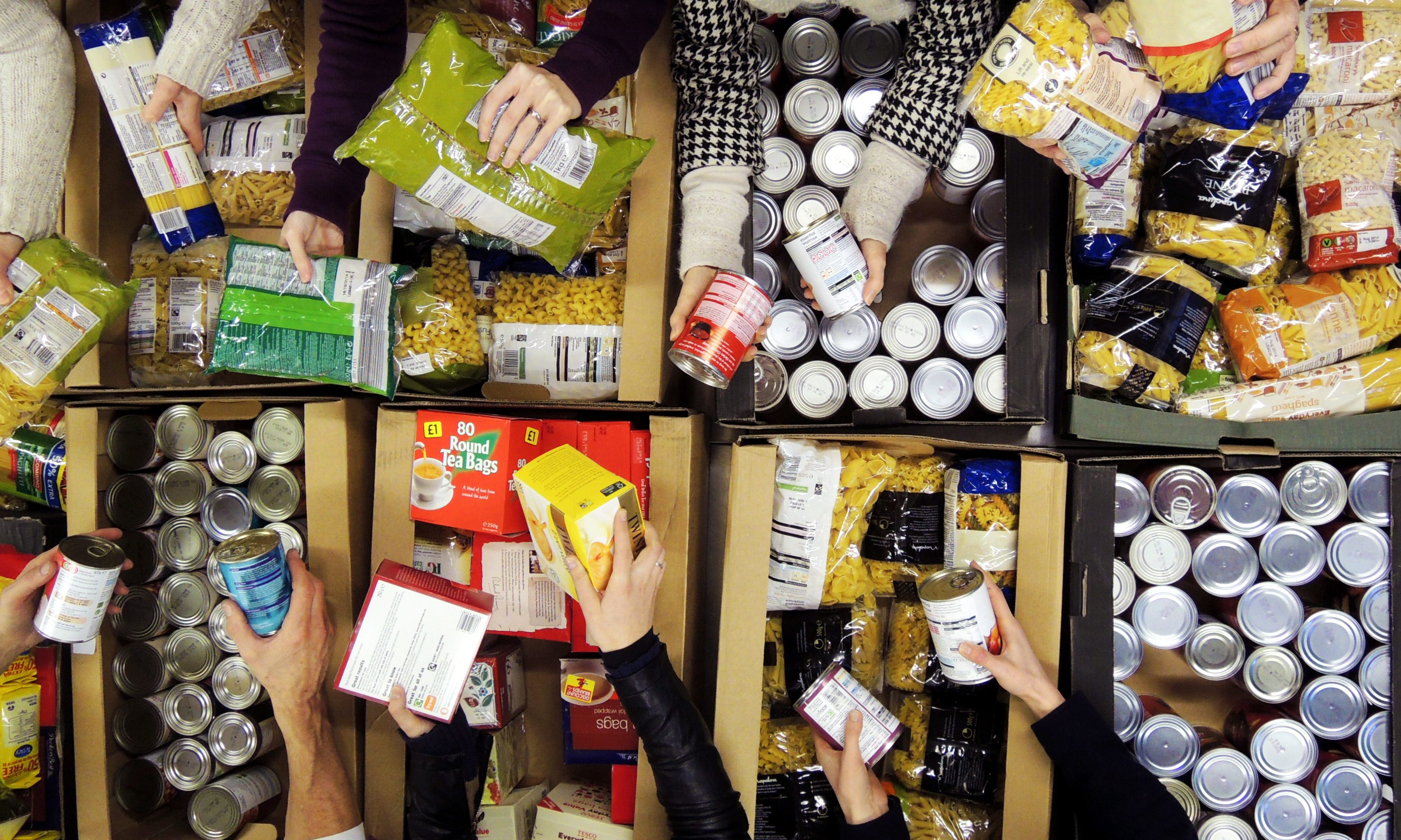 Some Scottish families rely heavily on the service provided by foodbanks.