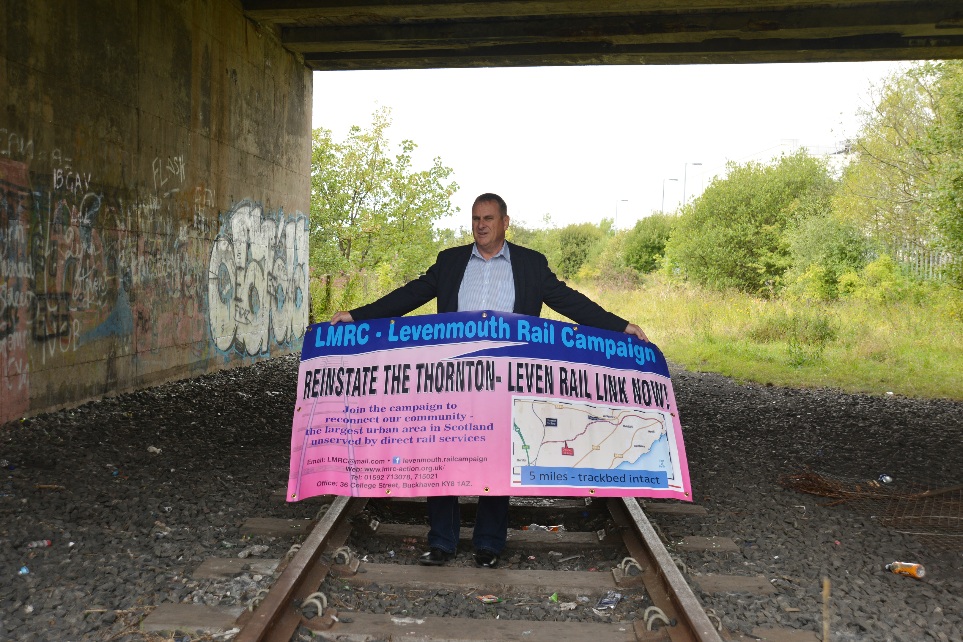 Ross Bennett of LMRC is one of those calling for the rail link