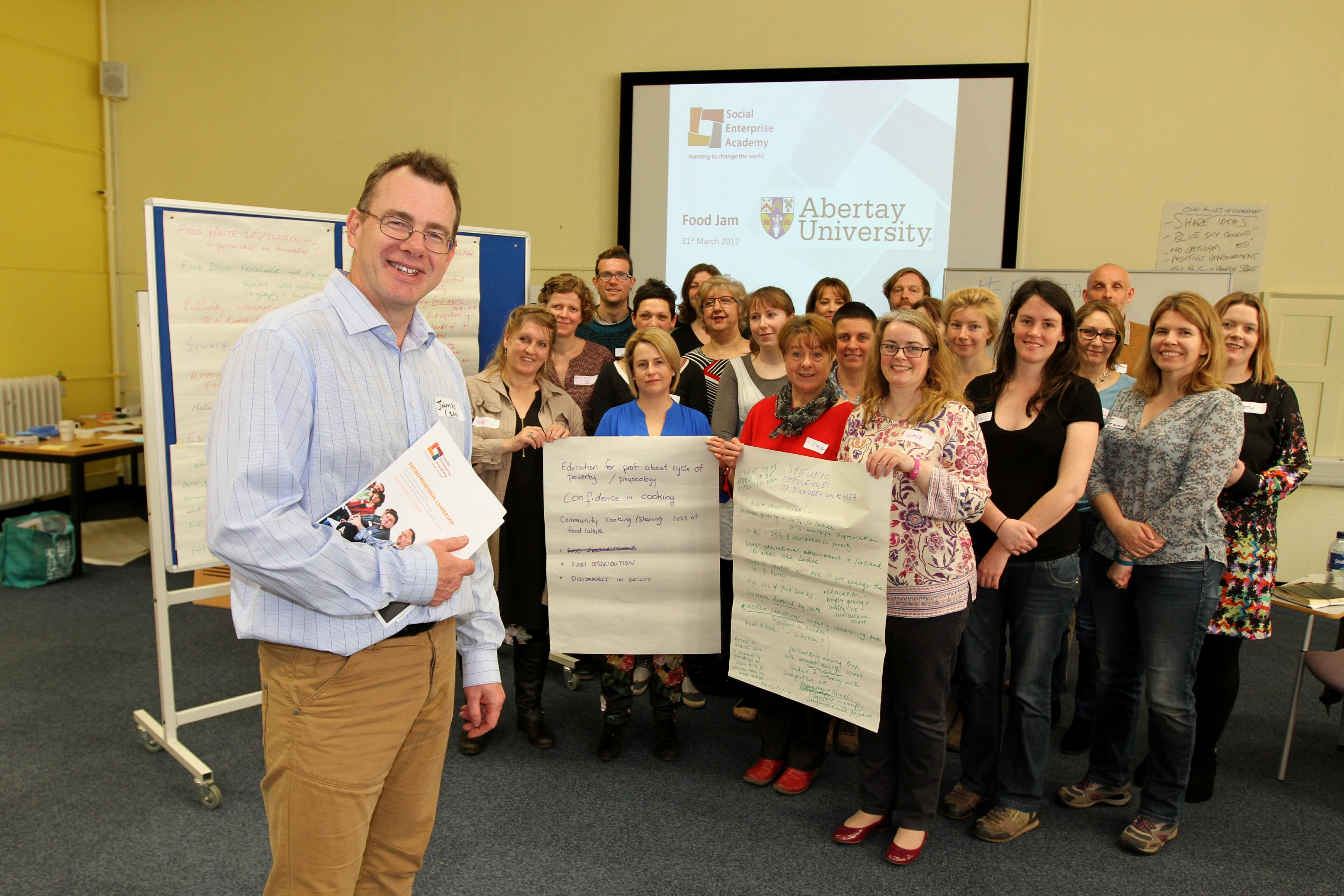 Attendees shared ideas on how to tackle the crisis of food poverty.