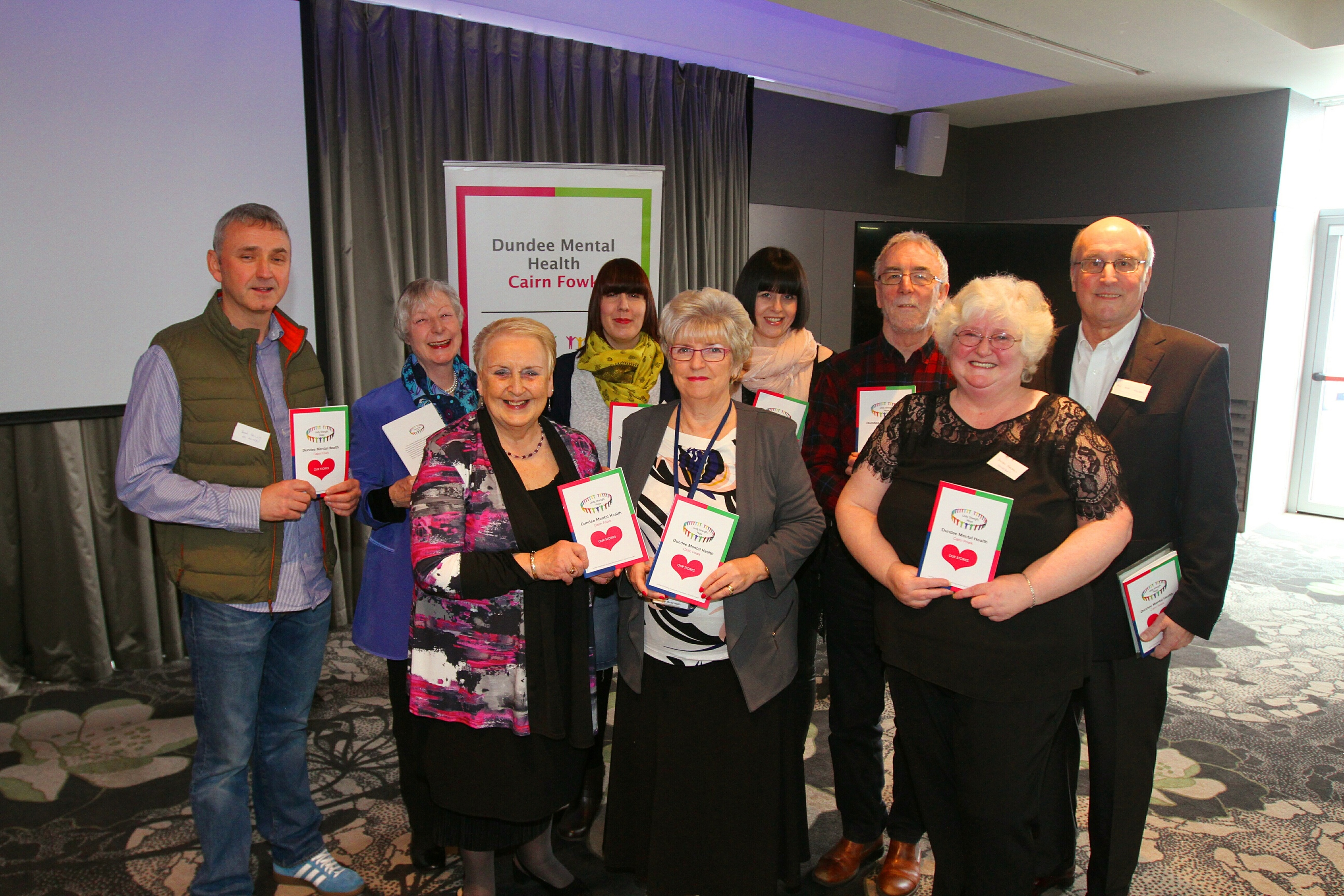 The group at Friday's conference with guest speakers.