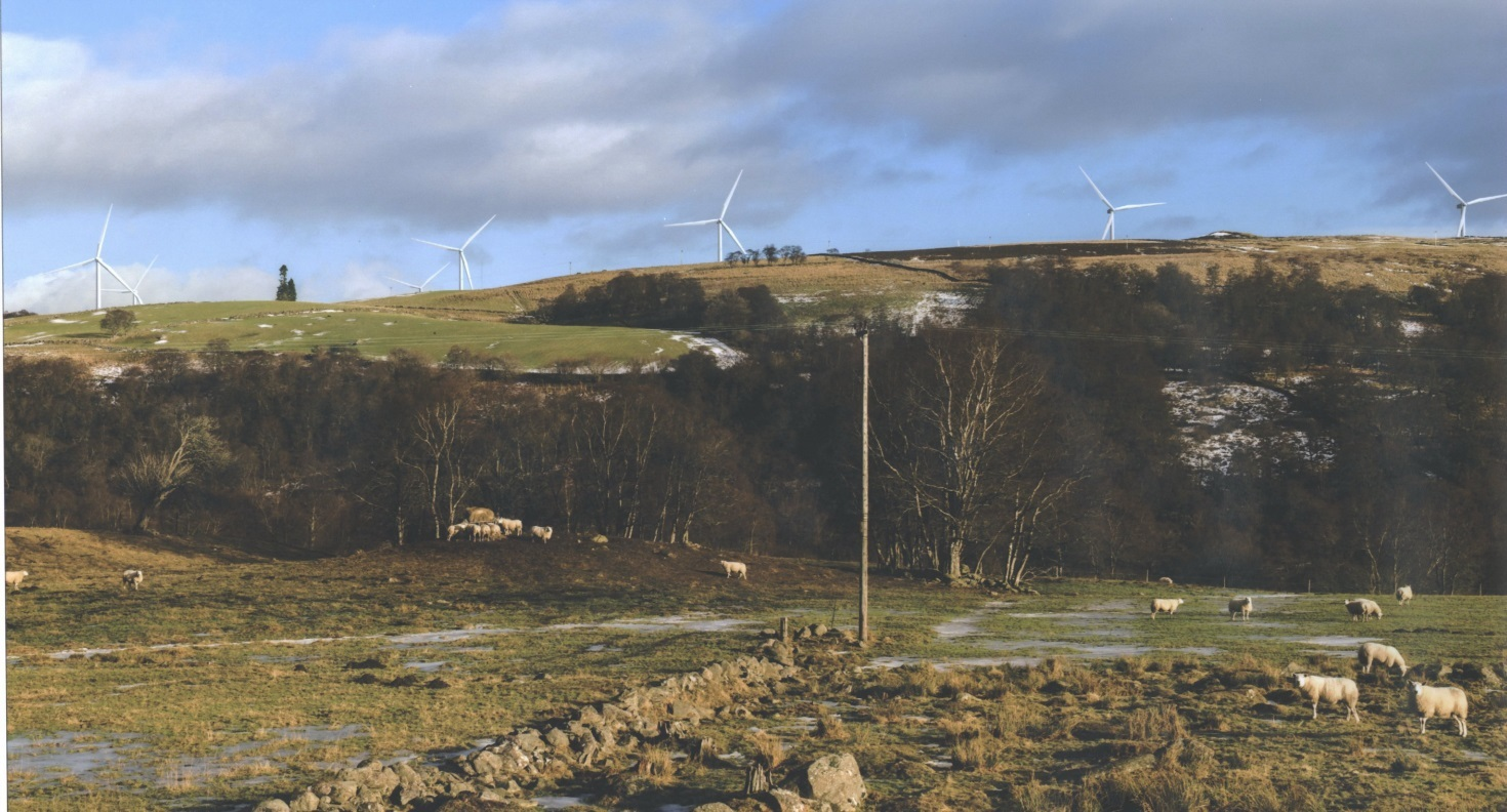 An graphic of how the Green Burn windfarm could look.
