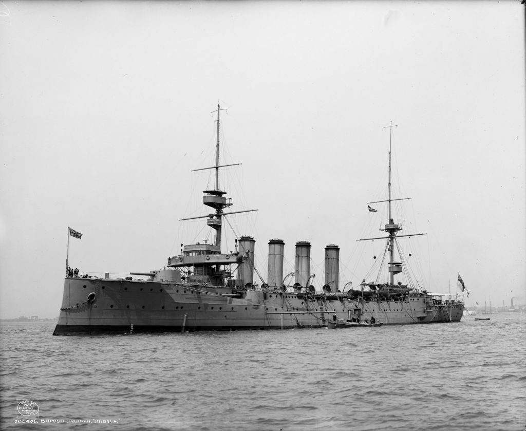 HMS Argyll was wrecked on the Bell Rock