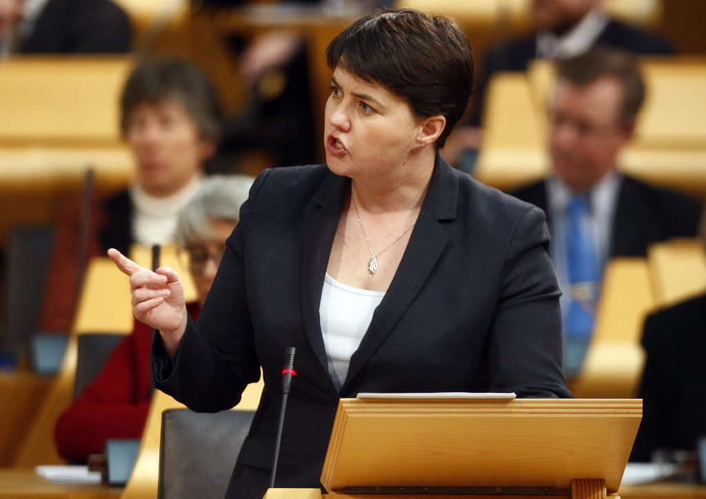 Scottish Conservative leader Ruth Davidson speaking during the debate.