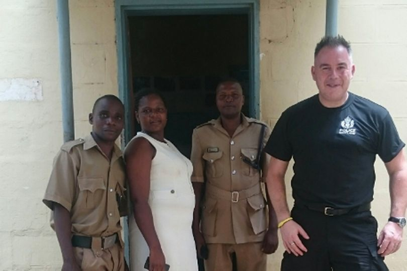 Sergeant Jim Thomson in Malawi, before he became unwell.