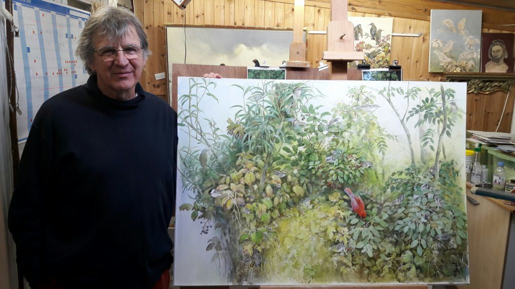 Jonathan Sainsbury with one of his works in progress