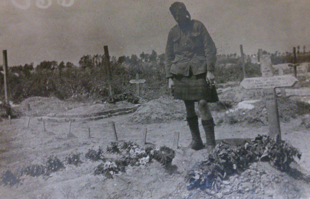 Jock at soldiers graves