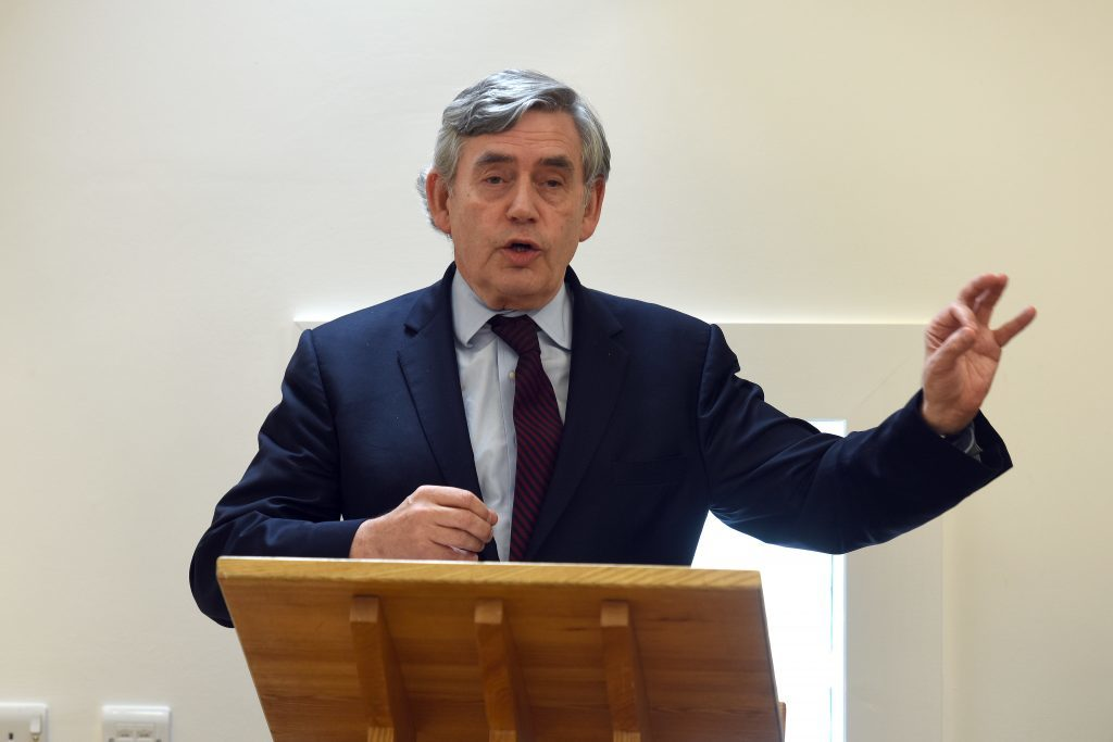 """Mr Brown will call for a """"Scottish patriotic way"""" in a speech in Kirkcaldy on Saturday."""