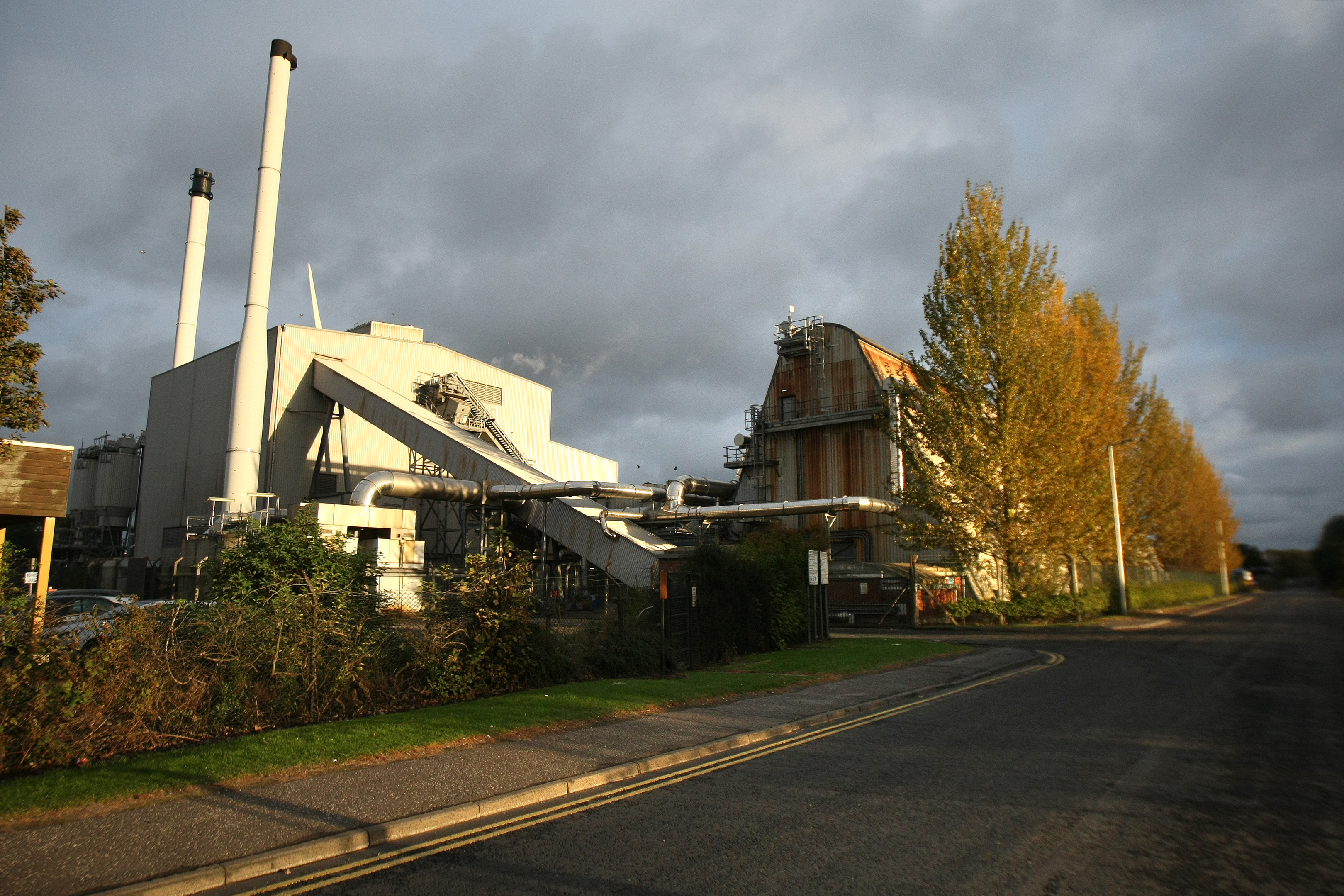 The current Baldovie incinerator and recycling centre.