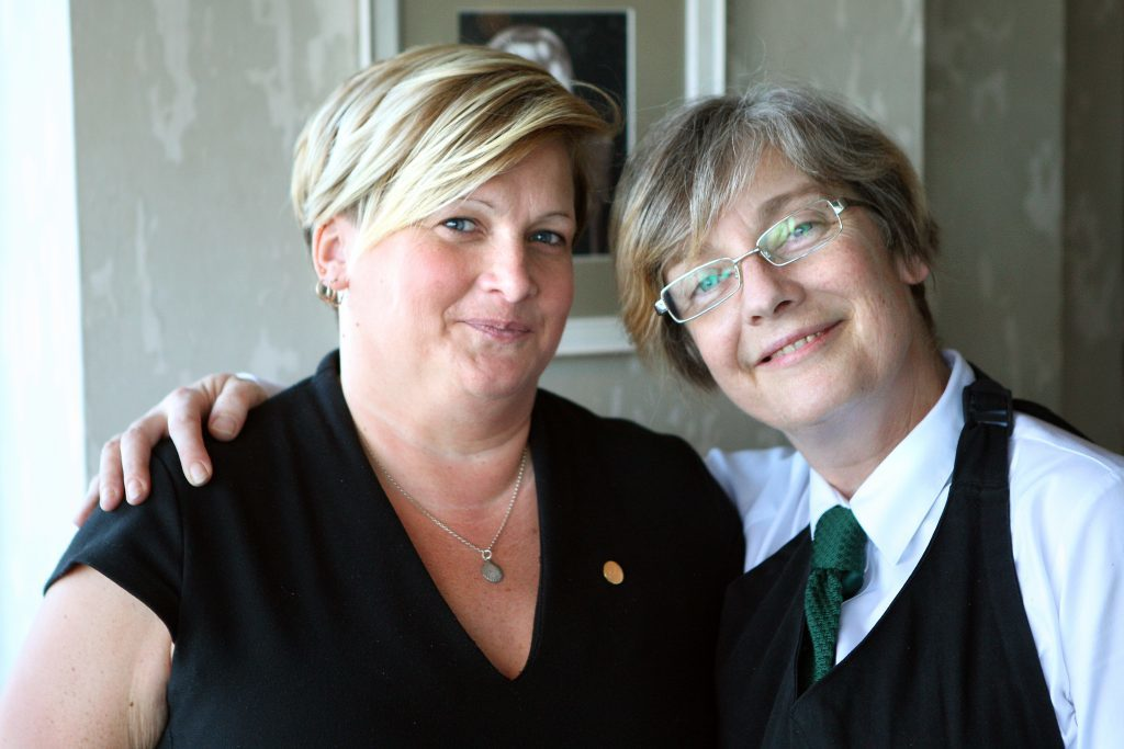 Sue Craze and Helen MacLennan at the hotel.
