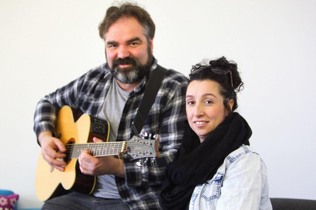 Actor Ian Bustard and Donna Reilly, Good Choices founder and dance teacher.