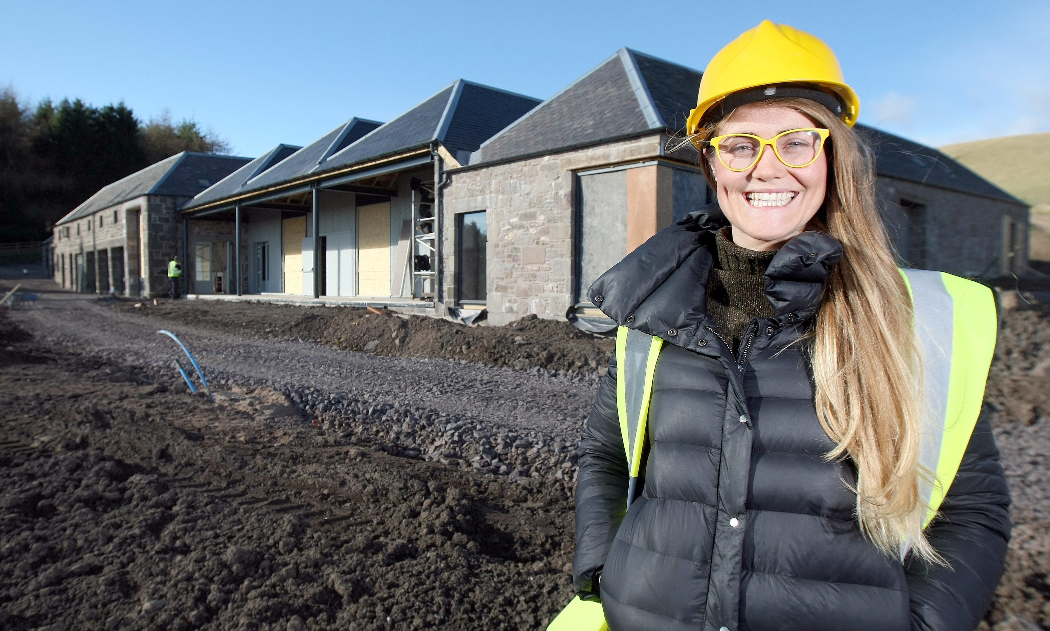 One of Scotland's newest rural event venues is being developed high on the south-facing hills overlooking the Carse of Gowrie.