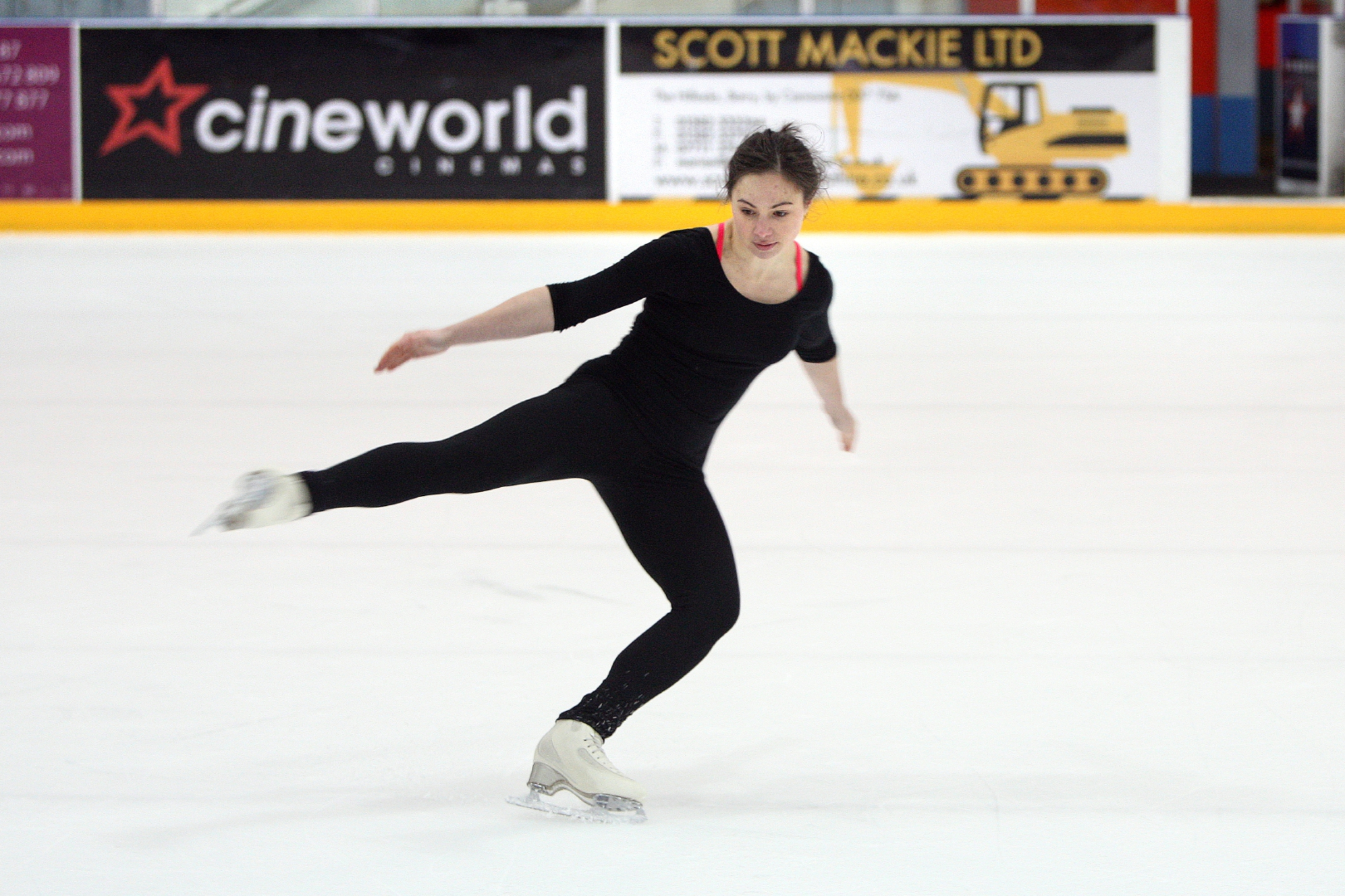 Katie Powell on the ice.