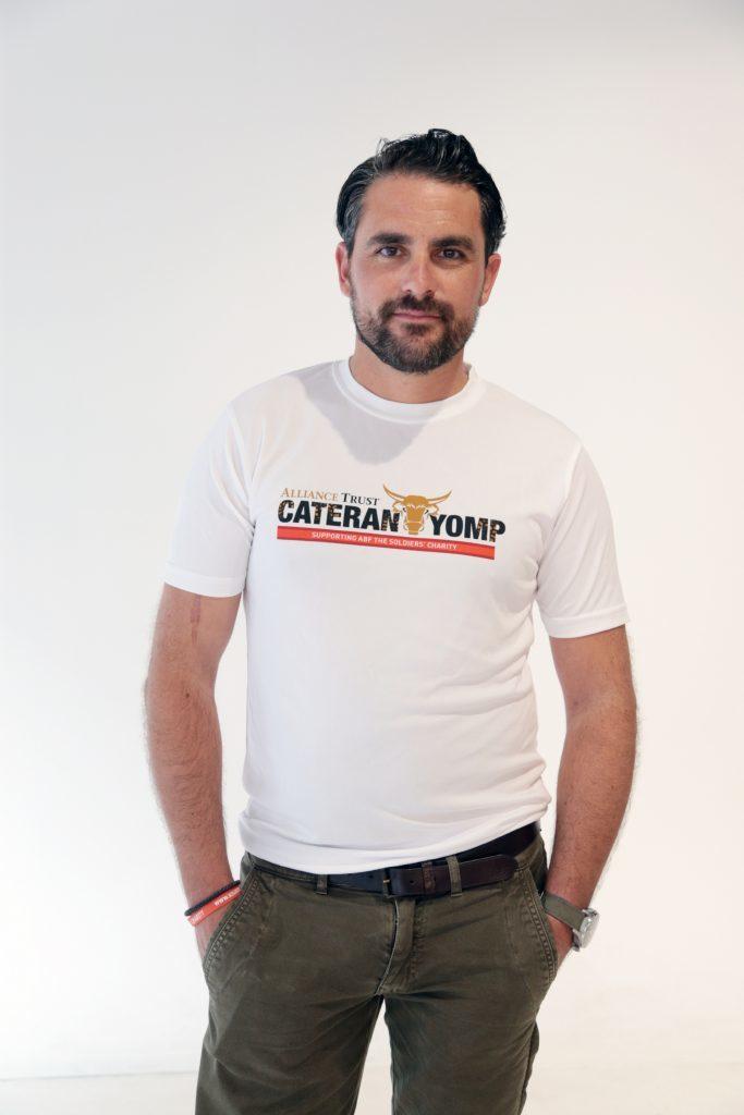 Lev sporting his Cateran Yomp T-shirt.