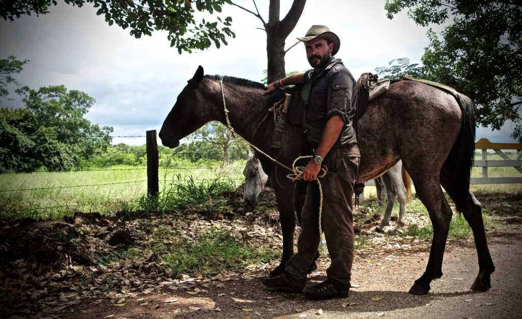 Levison has completed many expeditions, including on horseback.