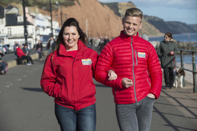 People's Postcode Lottery ambassadors Judie McCourt and Jeff Brazier.