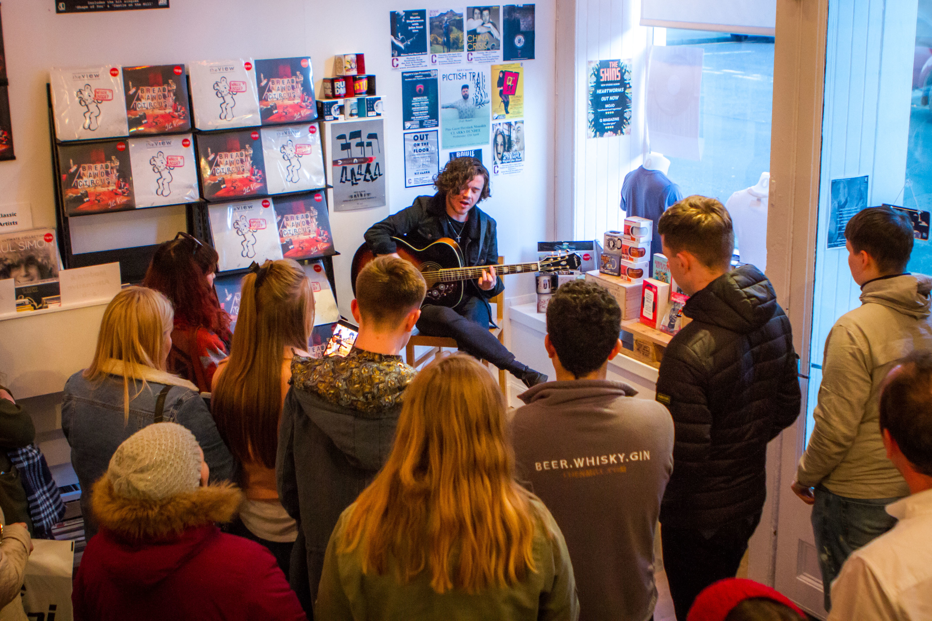 Kyle Falconer performs in Dundee.