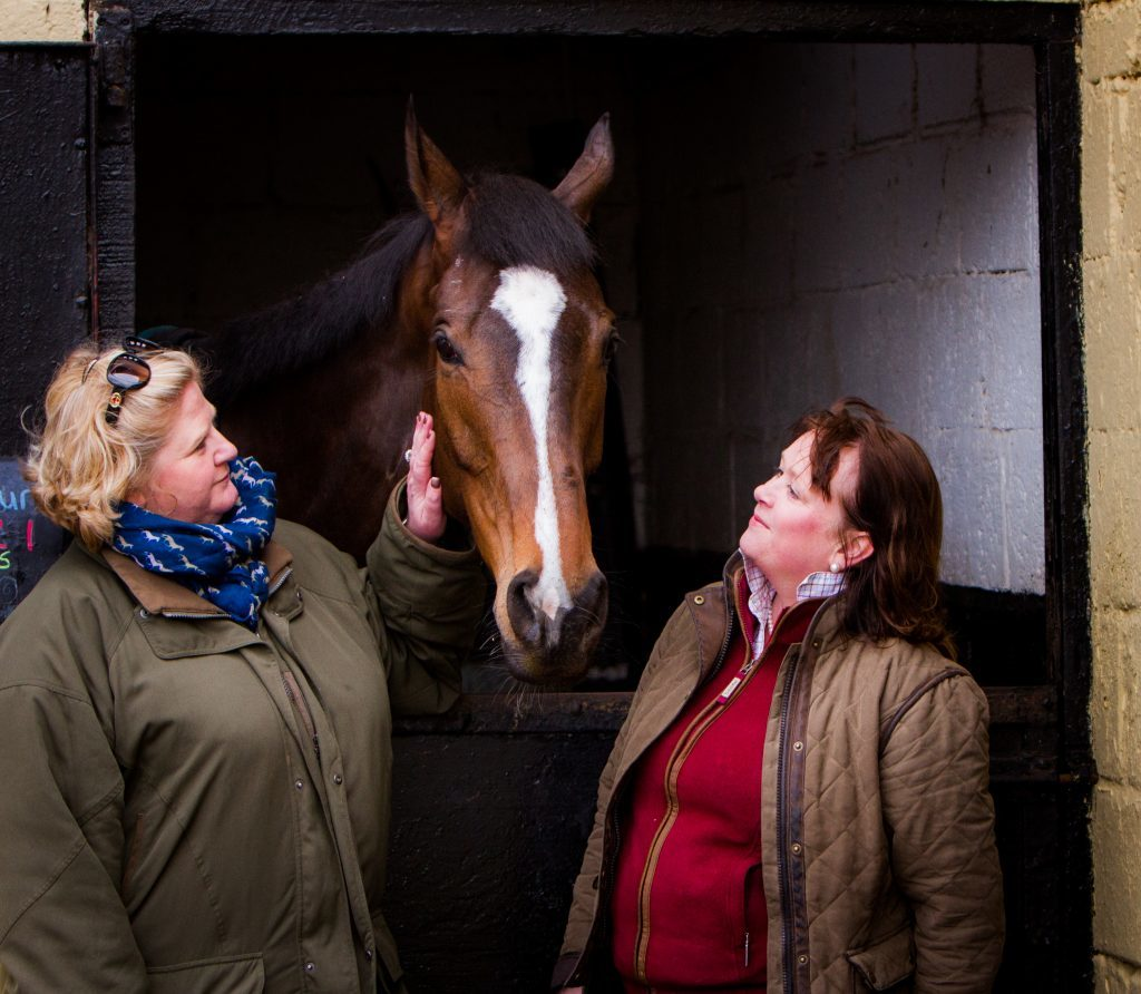 One for Arthur with with owners 'Golf Widows' Belinda McClung (left) and Debs Thomson (right).