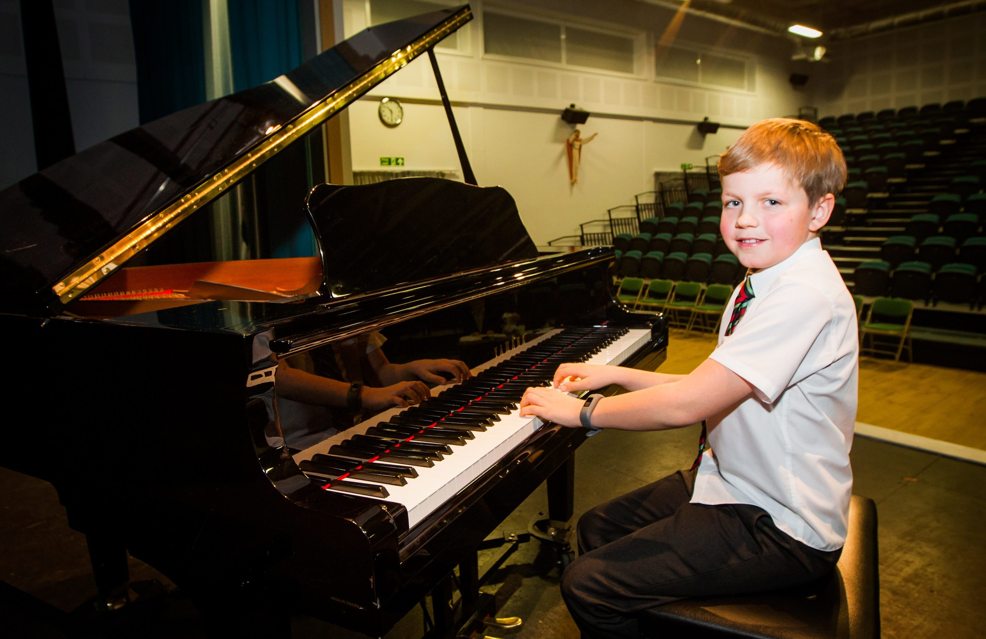Cormac Scrimgeour of Scone, winner of piano solo, beginners under 12 class.