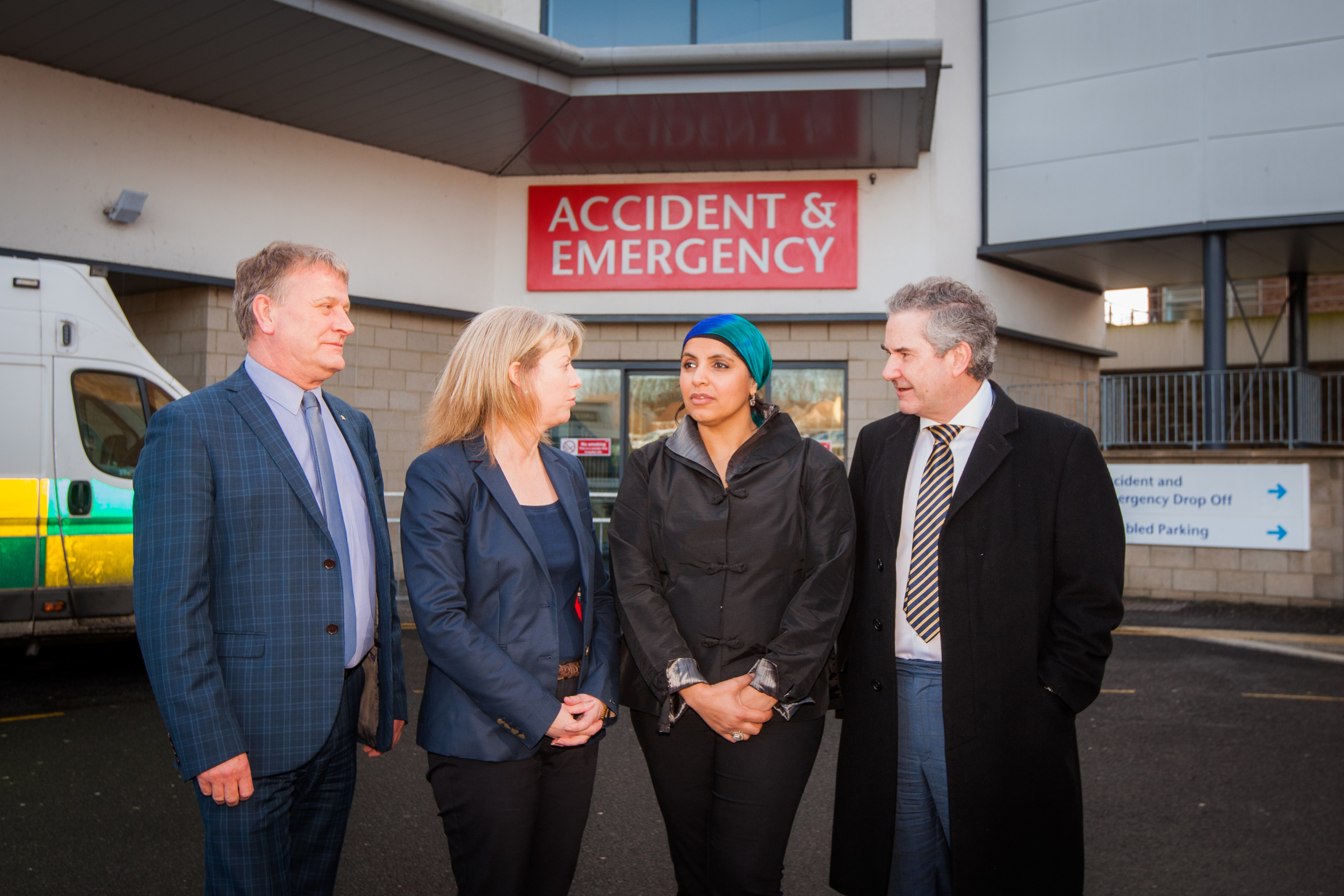 Dr Ahsan with health secretary Shona Robison, Kirkcaldy MSP David Torrance (left) and MP Roger Mullin