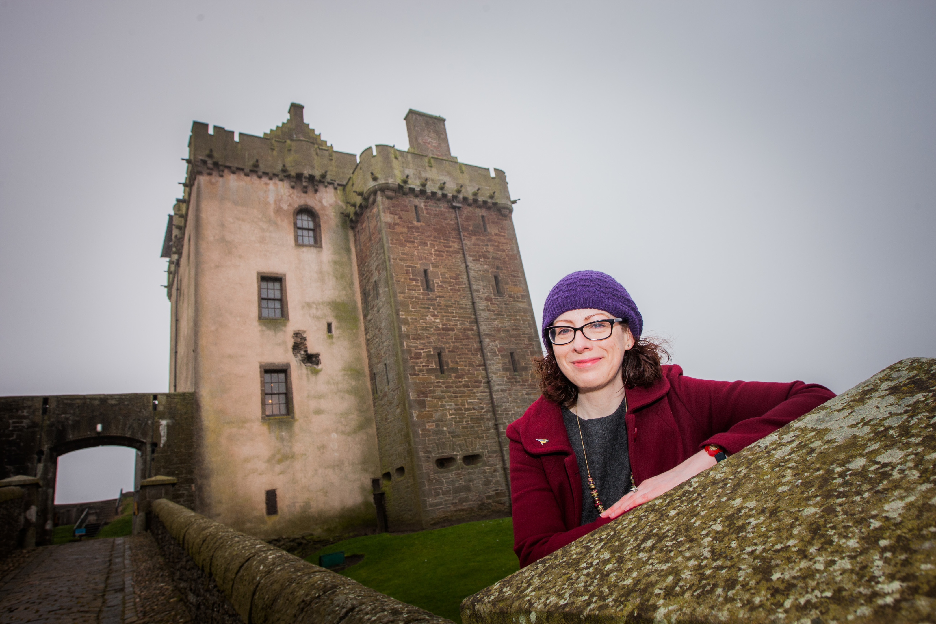 Sally McIntosh at Broughty Ferry Castle.