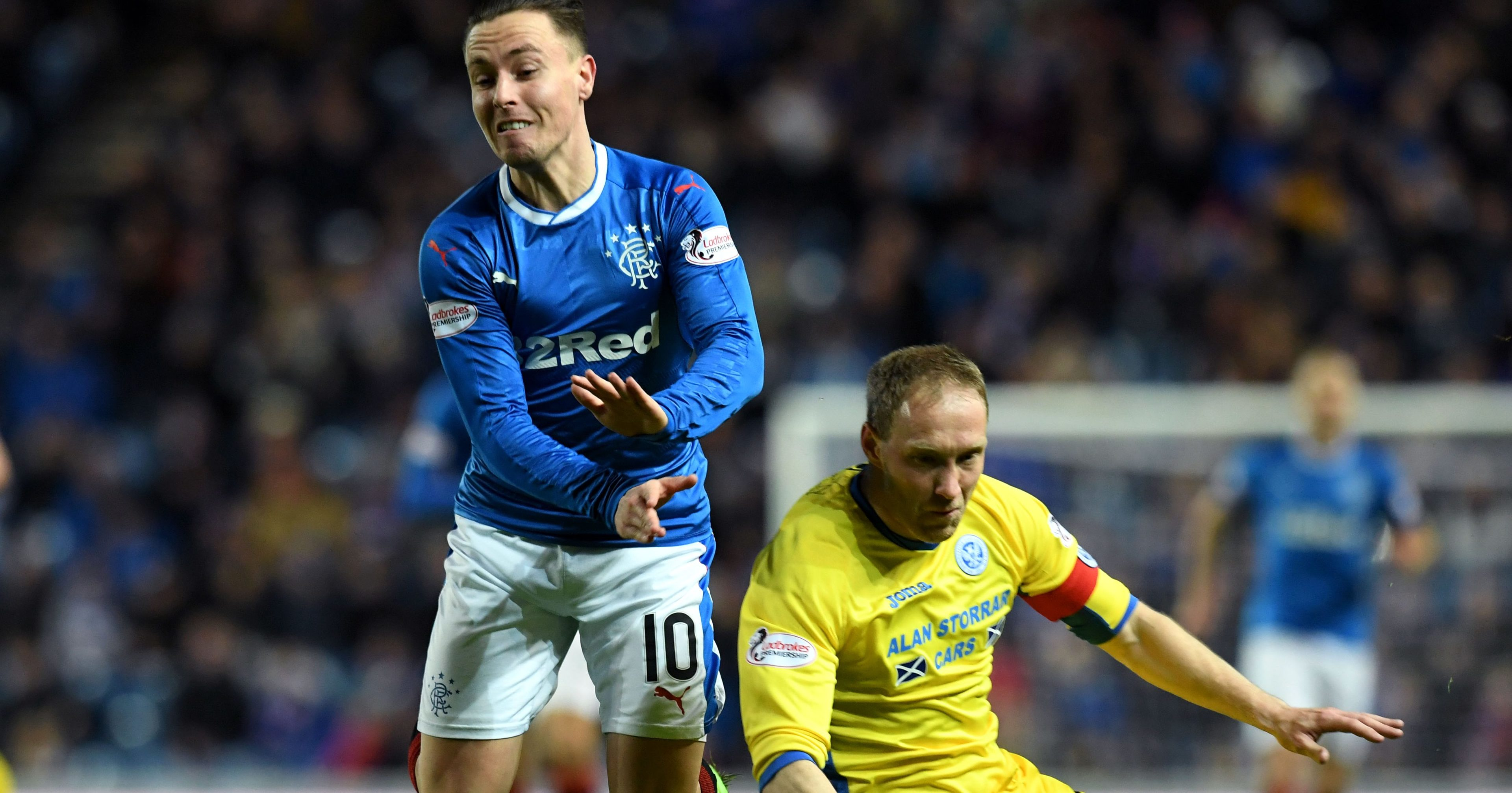Action from the game at Ibrox.