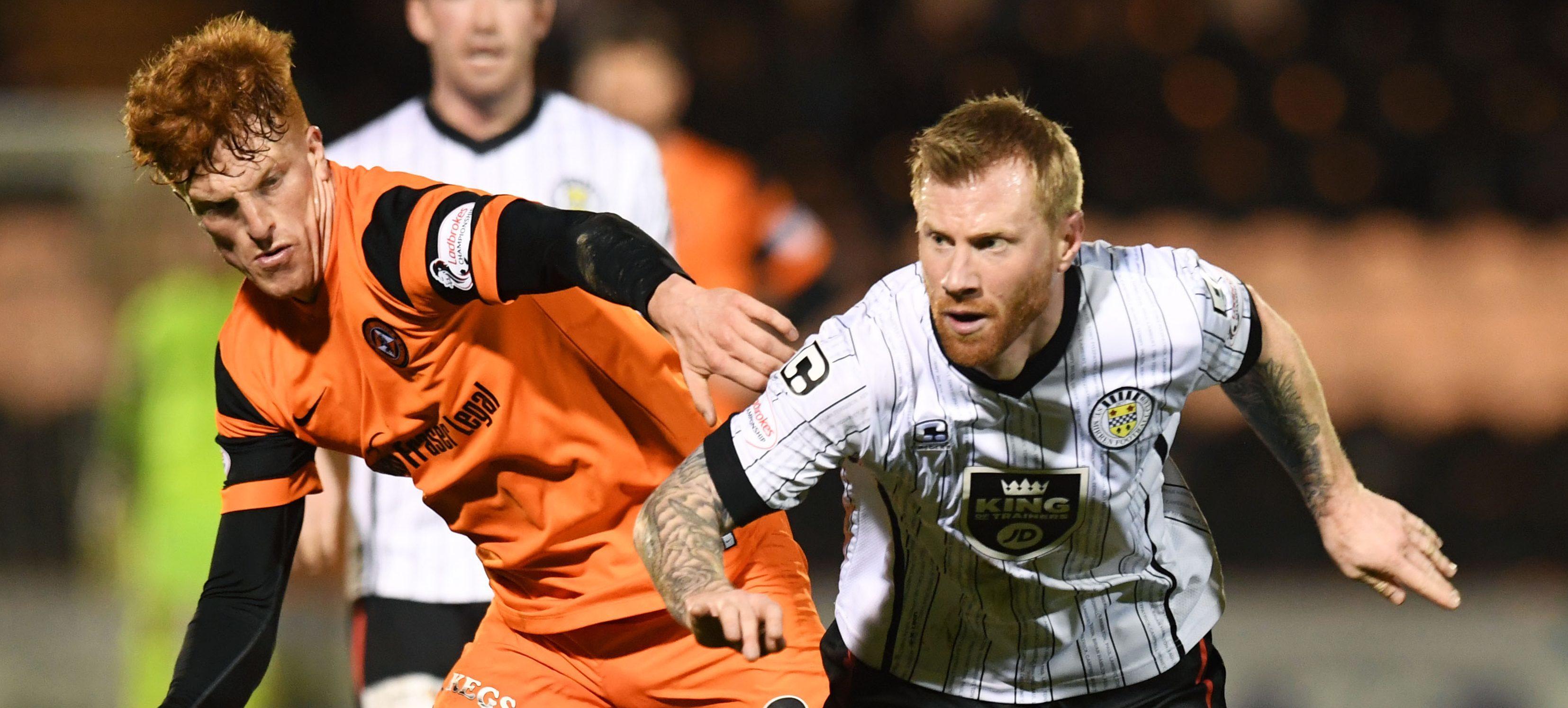 Simon Murray in action against St Mirren.