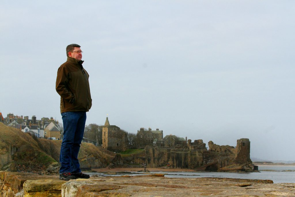 Maritime archaeologist Neil Dobson from St Andrews.