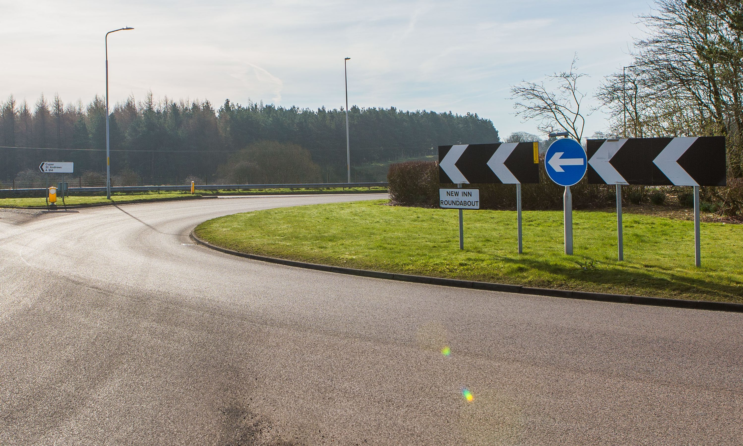 The New Inn roundabout, near Freuchie.