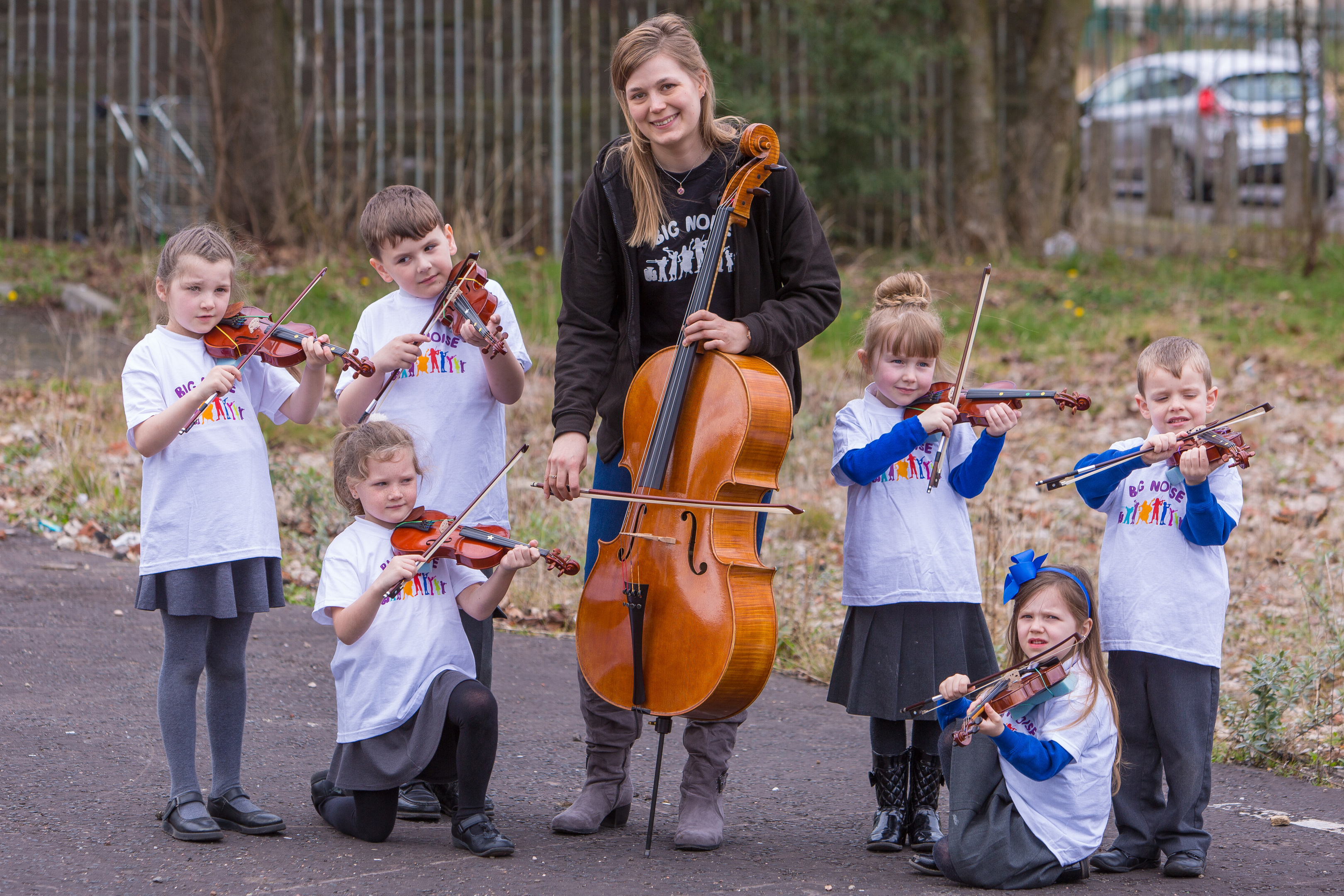 Sistema Scotland musicians visited Douglas to engage with children and families