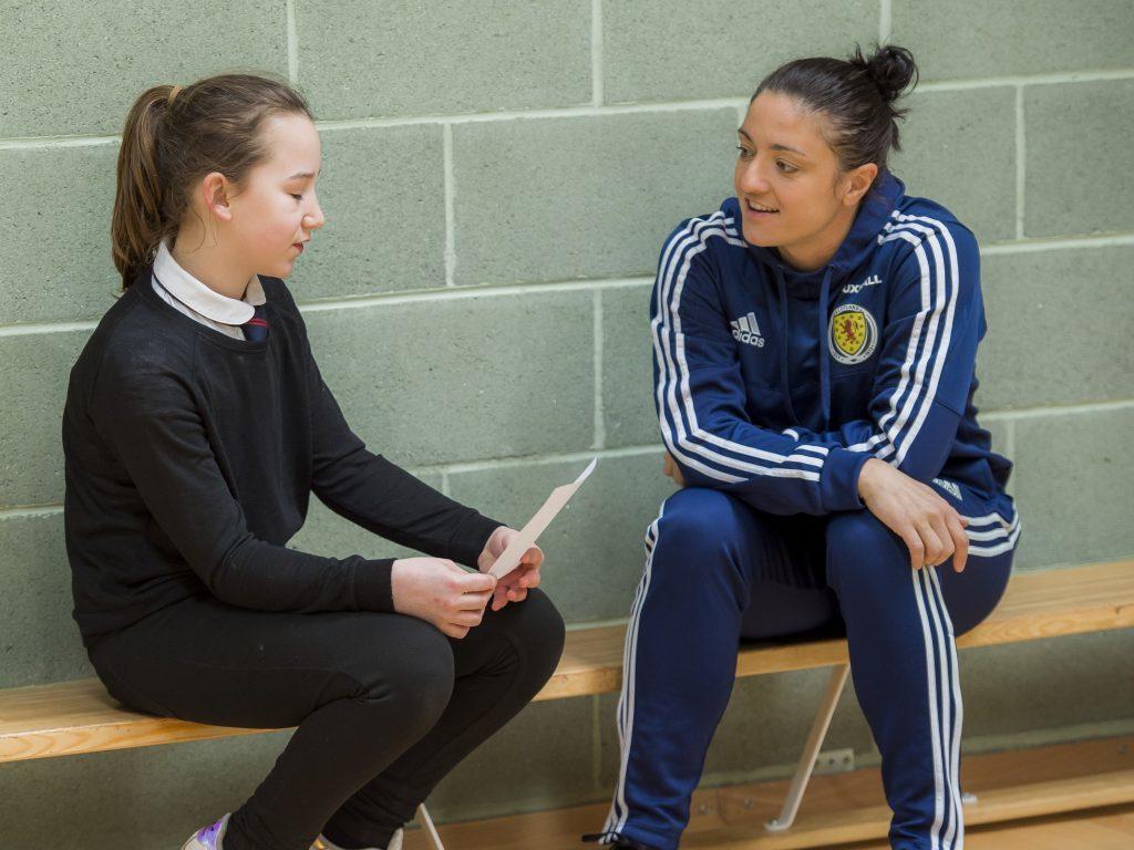 SportScotland visit Burntisland Primary School.