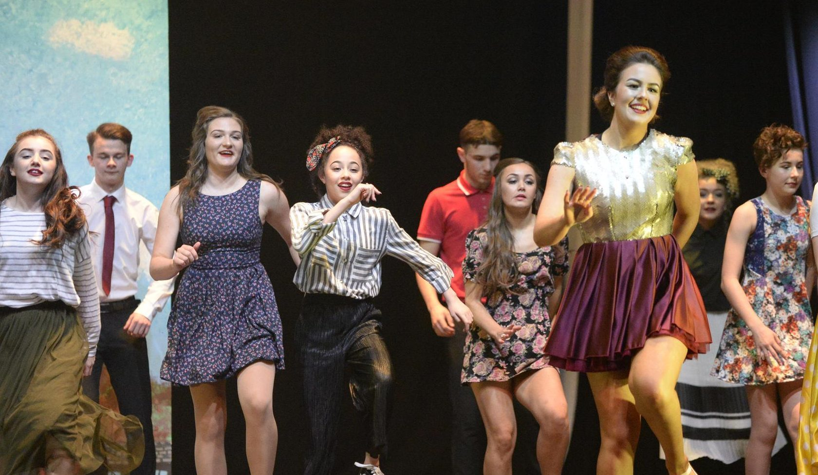 Contestants from Dundee's St John's RC High School strut their stuff.