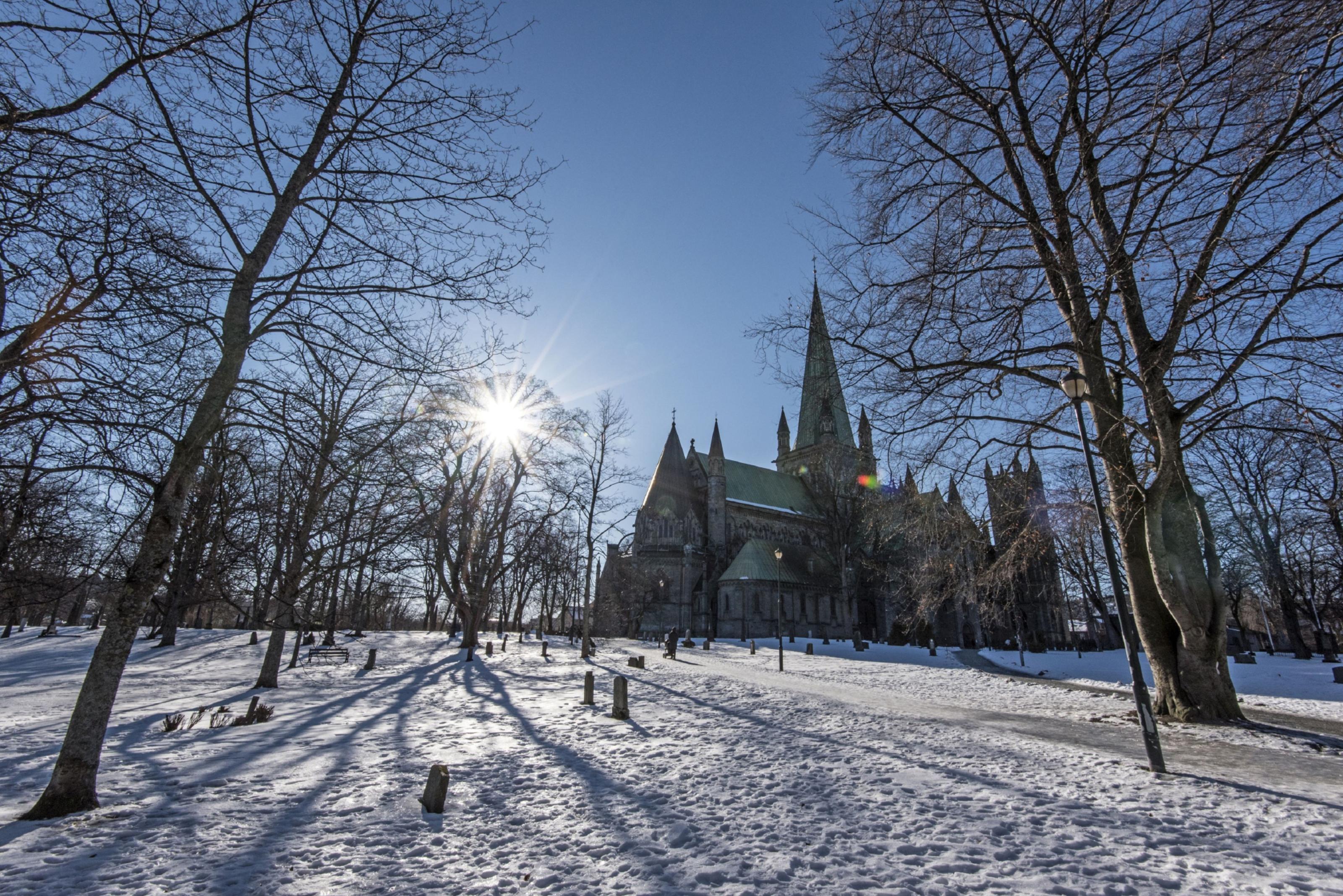 Undated Handout Photo of Nidaros Cathedral in Trondheim, Trondelag, Norway.